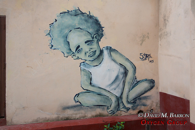 Mural Of Young Boy