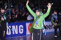 SCHAATSEN: AMSTERDAM: Olympisch Stadion, 28-02-2014, KPN NK Sprint/Allround, Coolste Baan van Nederland, Huldiging Olympische medaillewinnaars, Ireen Wüst, ©foto Martin de Jong