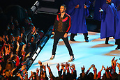 3rd February 2019, Atlanta Georgia, USA; NFL Superbowl LIII, New England Patriots versus Los Angeles Rams;  Adam Levine performs during the Pepsi Halftime Show during Super Bowl LIII
