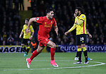 Liverpool's Emre Can celebrates scoring his sides opening goal during the Premier League match at Vicarage Road Stadium, London. Picture date: May 1st, 2017. Pic credit should read: David Klein/Sportimage