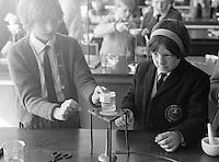 Science class, Whitworth Comprehensive School, Whitworth, Lancashire.  1970.