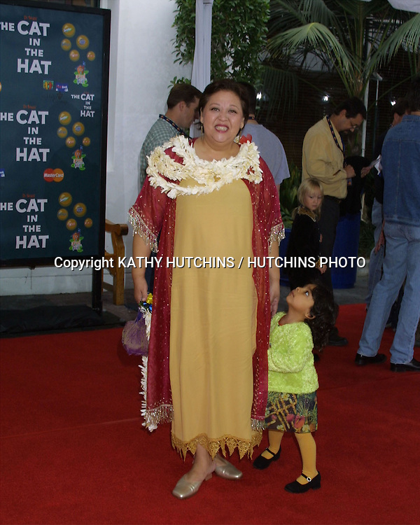 "©2003 KATHY HUTCHINS / HUTCHINS PHOTO.""CAT IN THE HAT"" PREMIERE.UNIVERSAL CITY, CA.NOVEMBER 8, 2003..AMY HILL AND PENELOPE"