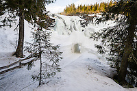 Sweden, Åre. Tännforsen is the highest waterfall in Sweden.