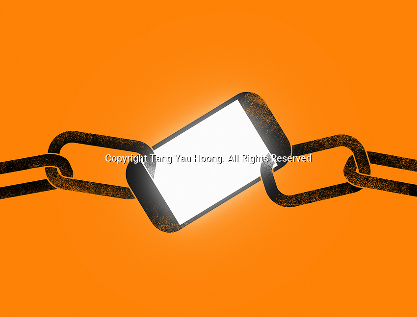 Smart phone as link in chain