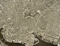 historical aerial photo Brooklyn, New York City, 1963