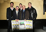 "The Cast of The Irish Curse - Austin Peck (Days & ATWT) - Roderick Hill - Scott Jaeck (Santa Barbara ""Cain"" & Bold and the Beautiful) - front: Brian Leahy - Dan Butler at the Opening Night of the off-Broadway play The Irish Curse on March 28, 2010 at the Soho Playhouse, New York City, New York. (Photo by Sue Coflin/Max Photos)"