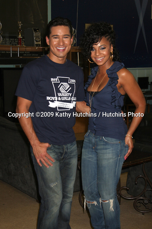 Mario Lopez & Ashanti   at  The Boys & Girls Club of Los Angeles , CA on August 28, 2009.©2009 Kathy Hutchins / Hutchins Photo.