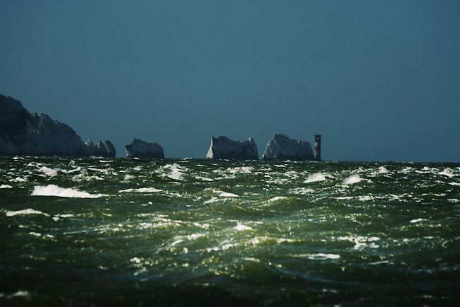 Stormy weather at the Needles, Isle of Wight