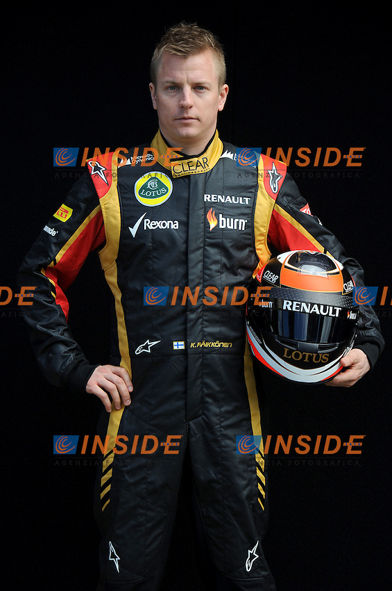 LOTUS RENAULT F1 FINNISH DRIVER,KIMI RAIKKONEN. .Melbourne 16/03/2013 .Formula 1 Gp Australia.Foto Insidefoto.ITALY ONLY .Posato Ritratto Pilota