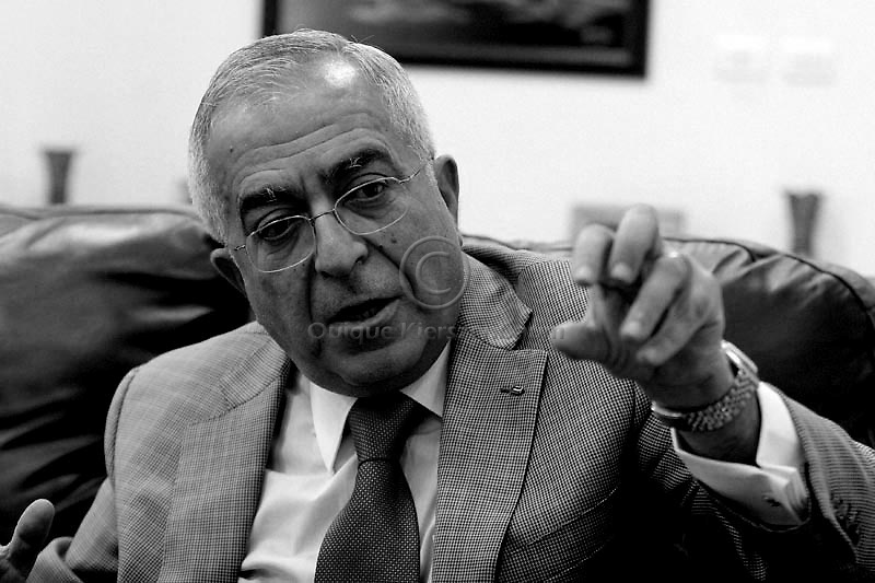 Palestinian Prime Minister Salam Fayyad is seen in his office in the West Bank city of Ramallah. Photo by Quique Kierszenbaum