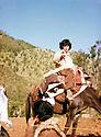 Iraq 1981 .On may 1981, in Kani Za, Pakchan Hafid on her way to the conference of Komala.Irak 1981.En mai, a Kani Za, Pakchan Hafid partant a la conference du Komala