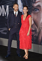 WESTWOOD, CA - OCTOBER 01: Tom Hardy and Kelly Marcel attend the Premiere Of Columbia Pictures' 'Venom' at Regency Village Theatre on October 1, 2018 in Westwood, California.<br /> CAP/ROT/TM<br /> ©TM/ROT/Capital Pictures
