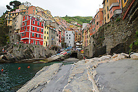 Village of Riomaggiore in Cinque Terra National Park, Italy, a UNESCO World Heritage Site.
