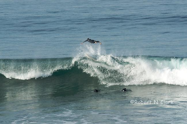 Carlsbad State Beach high winter surf