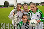 BREAK TIME: Enjoying  the St. Senans GAA Club  VHI Cul Camp in Shanagolden on Thursday last were Cloe Flavin (front), Ashley Hoyne, Jessica Moroney and Catherine Merrick.