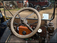 BNPS.co.uk (01202 558833)<br /> Pic: PhilYeomans/BNPS<br /> <br /> The accelerator is part of the steering wheel.<br /> <br /> Garage that time forgot...<br /> <br /> Business is booming at Neil Tuckets time warp garage in the heart of Buckinghamshire - Where you can by any car&hellip;as long as its a Model T Ford.<br /> <br /> Despite his newest models being nearly 90 years old, Neil struggles to keep up with demand with customers snapping up one a week, despite their rudimentary levels of comfort and trim.<br /> <br /> Neil sources his spares from all over the globe and carefully puts the machines back together again.<br /> <br /> 'There like a giant meccano set really, and so beautifully simple and reliable they just won't let you down...You also don't require road tax or and MOT!'