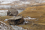 Large boulders in mountain valley, Sarychat-Ertash Strict Nature Reserve, Tien Shan Mountains, eastern Kyrgyzstan