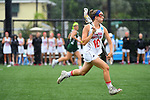 TAMPA, FL - MAY 20: Emily Santoli #10 of the Florida Southern Mocs races down field against the Le Moyne Dolphins during the Division II Women's Lacrosse Championship held at the Naimoli Family Athletic and Intramural Complex on the University of Tampa campus on May 20, 2018 in Tampa, Florida. Le Moyne defeated Florida Southern 16-11 for the national title. (Photo by Jamie Schwaberow/NCAA Photos via Getty Images)