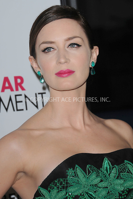 """WWW.ACEPIXS.COM . . . . . .April 18, 2012...New York City....Emily Blunt arriving to the Universal Pictures premiere of """"The Five Year Engagement"""" for the opening of the Tribeca Film Festival at the Ziegfeld Theatre on April 18, 2012  in New York City ....Please byline: KRISTIN CALLAHAN - ACEPIXS.COM.. . . . . . ..Ace Pictures, Inc: ..tel: (212) 243 8787 or (646) 769 0430..e-mail: info@acepixs.com..web: http://www.acepixs.com ."""
