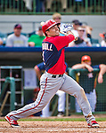12 March 2014: Washington Nationals infielder Jamey Carroll in action during a Spring Training game against the Houston Astros at Osceola County Stadium in Kissimmee, Florida. The Astros rallied in the bottom of the 9th to edge out the Nationals 10-9 in Grapefruit League play. Mandatory Credit: Ed Wolfstein Photo *** RAW (NEF) Image File Available ***