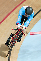 Picture by Alex Whitehead/SWpix.com - 23/03/2018 - Cycling - 2018 UCI Para-Cycling Track World Championships - Rio de Janeiro Municipal Velodrome, Barra da Tijuca, Brazil - Tristen Chernove of Canada competes in the Men's C2 1km Time Trial final.