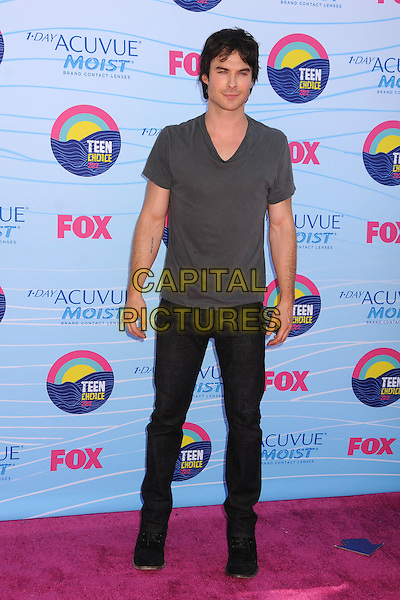 Ian Somerhalder.FOX's 2012 Teen Choice Awards held at The Gibson Ampitheatre in Universal City, California, USA..July 22nd, 2012.full length top black jeans denim grey gray t-shirt  .CAP/ADM/BP.©Byron Purvis/AdMedia/Capital Pictures.