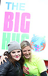 Ryann Redmond and Laura Heywood, aka @BroadwayGirlNYC, attends Big Hug Day: Broadway comes together to spread kindness and raise funds for Children's Hospitals on January 21, 2018 at Duffy Square, Times Square in New York City.