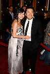 "UNIVERSAL CITY, CA. - March 12: Director Justin Lin (R) and wife Alice Lin arrive at the Los Angeles premiere of ""Fast & Furious"" at the Gibson Amphitheatre on March 12, 2009 in Universal City, California."