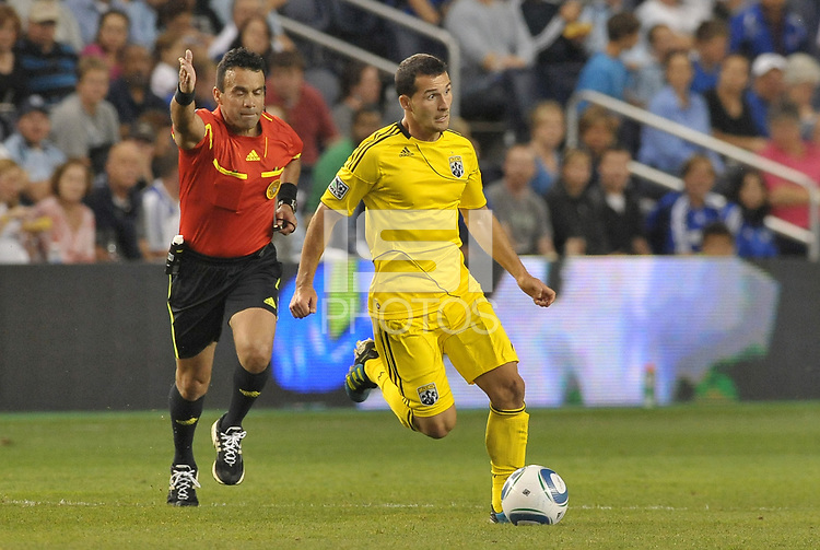 Dilly Duka Columbus Crew midfielder in action... Sporting Kansas City defeated Columbus Crew 2-1 at LIVESTRONG Sporting Park, Kansas City, Kansas.