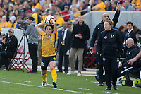 Sandy, UT - Saturday April 14, 2018: Brooke Elby, Laura Harvey during a regular season National Women's Soccer League (NWSL) match between the Utah Royals FC and the Chicago Red Stars at Rio Tinto Stadium.