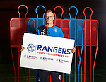 Dean Shiels at Murray park to promote the Rangers Youth Development Company