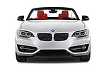 Car photography straight front view of a 2015 BMW 2 Series  Sport 2 Door Convertible