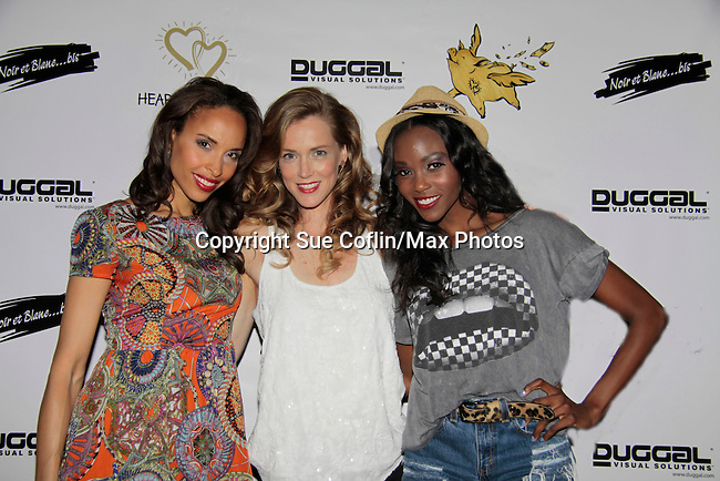 Models Valerie Roy - Stephanie Voelckers - Shannone Holt - Hearts of Gold - 45 A Different Kind of Fund Raiser on July 10, 2014 at Manhattan Penthouse, New York City, New Yor (Photo by Sue Coflin/Max Photos)