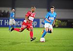 2015-10-31 / Voetbal / seizoen 2015-2016 / Hoogstraten VV - Tempo Overijse / Hamid Bouyfoulkitne (l. Hoogstraten) met Ronald Loenders<br /><br />Foto: Mpics.be