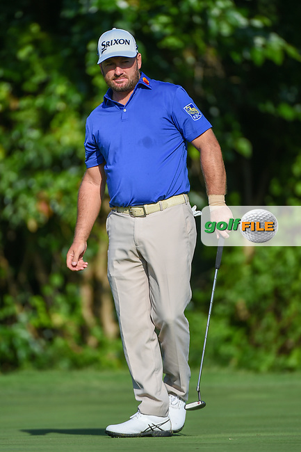 Graeme McDowell (NIR) watches his putt on 7 during round 3 of the 2019 Charles Schwab Challenge, Colonial Country Club, Ft. Worth, Texas,  USA. 5/25/2019.<br /> Picture: Golffile | Ken Murray<br /> <br /> All photo usage must carry mandatory copyright credit (© Golffile | Ken Murray)