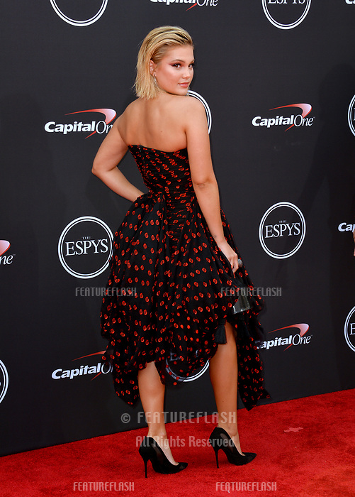 Olivia Holt at the 2018 ESPY Awards at the Microsoft Theatre LA Live, Los Angeles, USA 18 July 2018<br /> Picture: Paul Smith/Featureflash/SilverHub 0208 004 5359 sales@silverhubmedia.com