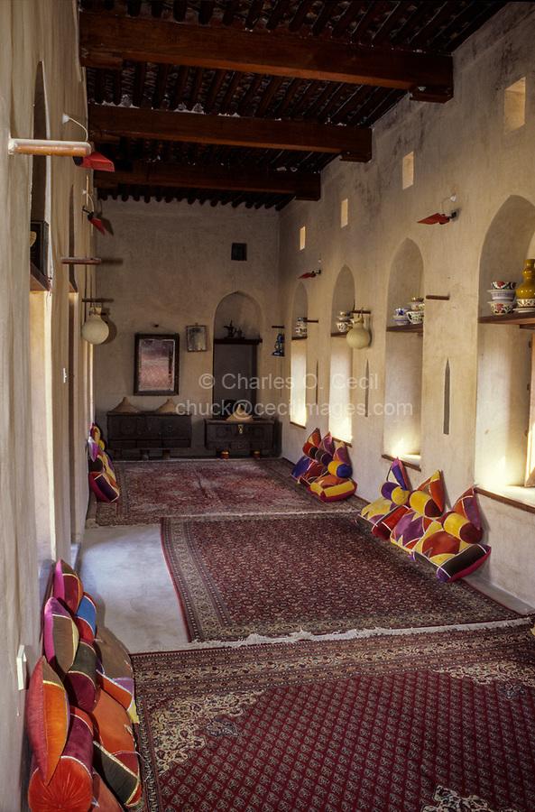 Nakhl, Oman.  Women's Room in the Nakhl Fort.