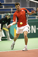 21-2-06, Netherlands, tennis, Rotterdam, ABNAMROWTT,  Atal van der Duim in action against Calatrava i