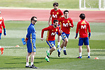 Spain's coach Julen Lopetegui, Nacho Fernandez, Javi Martinez, Alvaro Morata and David Jimenez Silva during training session. March 21,2017.(ALTERPHOTOS/Acero)