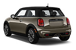 Car pictures of rear three quarter view of a 2019 Mini Hardtop 2 Door Cooper S Signature 3 Door Hatchback angular rear