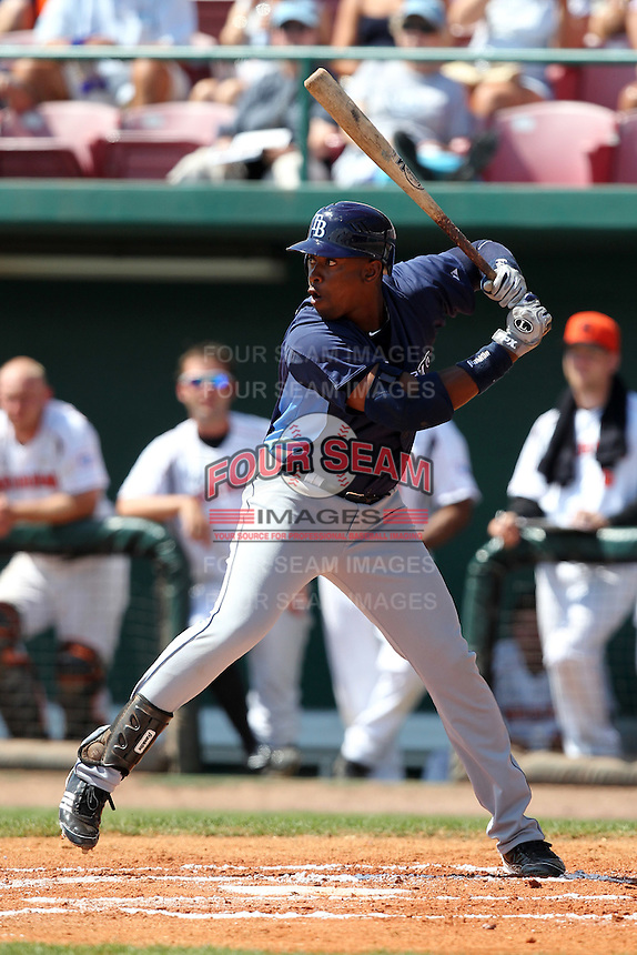Tampa Bay Rays Leslie Anderson #51 during a game vs. the Netherlands for an exhibition game at Al Lang Field in St. Petersburg, Florida;  March 9, 2011.  Tampa Bay defeated Netherlands 4-3.  Photo By Mike Janes/Four Seam Images
