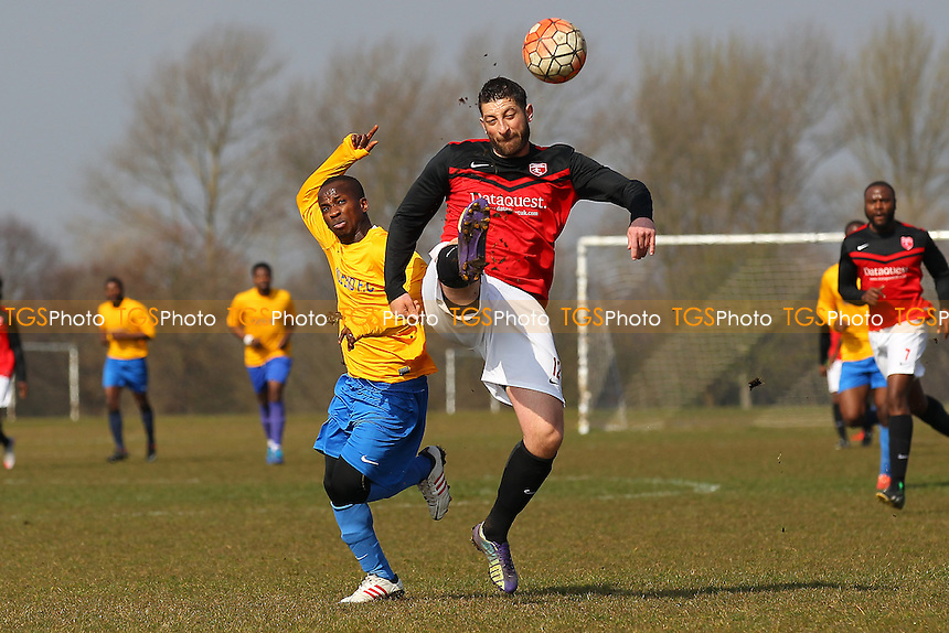 Highfield (red/black) vs Mile End, Hackney & Leyton Sunday League Jack Walpole Cup Football at Hackney Marshes on 3rd April 2016
