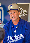 23 June 2013: Los Angeles Dodgers Manager Don Mattingly chats with the media prior to a game against the San Diego Padres at Petco Park in San Diego, California. The Dodgers defeated the Padres 3-1, splitting their 4-game Divisional Series at 2-2. Mandatory Credit: Ed Wolfstein Photo *** RAW (NEF) Image File Available ***