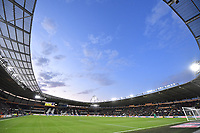 A general view of the KCOM Stadium, home of Hull City during the game<br /> <br /> Photographer Dave Howarth/CameraSport<br /> <br /> The Premier League - Hull City v Blackburn Rovers - Tuesday August 20th 2019  - KCOM Stadium - Hull<br /> <br /> World Copyright © 2019 CameraSport. All rights reserved. 43 Linden Ave. Countesthorpe. Leicester. England. LE8 5PG - Tel: +44 (0) 116 277 4147 - admin@camerasport.com - www.camerasport.com