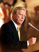United States House Minority Leader Richard A. Gephardt (Democrat of Missouri) speaks at the Congressional Gold Medal Ceremony in the U.S. Capitol in Washington, D.C. honoring South African President Nelson Mandela on September 23, 1998..Credit: Ron Sachs / CNP