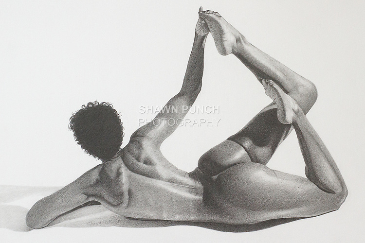 Yvonne 2 ~ Graphite on paper 14 x 11 inch (35.56 x 27.94 cm)