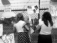 Women from Santa Cruz CA protesting  with the Women's Encampment for a Future with Peace and Justice at the Seneca Army Depot in Seneca Falls New York August 1, 1983