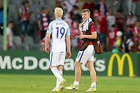 Matt Targett of England is all smiles at the final whistle after England Under-21 vs Poland Under-21, UEFA European Under-21 Championship Football at The Kolporter Arena on 22nd June 2017