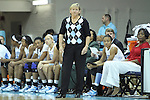 14 November 2012: UNC head coach Sylvia Hatchell. The University of North Carolina Tar Heels played the Georgetown University Hoyas at Carmichael Arena in Chapel Hill, North Carolina in an NCAA Division I Women's Basketball game, and a semifinal in the Preseason WNIT. UNC won the game 63-48.