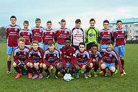 Mervue United U16 match squad photo.<br /> <br /> Aaron Connolly (At age 14) back row, second from right.<br /> <br /> Mervue Unted v St Bernards, U16 Connacht Cup 2014/2015 3rd Round, Fahy's Field, Mervue, Galway, 13/12/2014